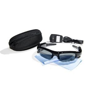 4 GB Action Video Camera Sunglass Combination Black