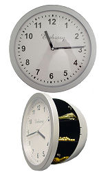 Wall Clock with Hidden Safe Hides in plain sight