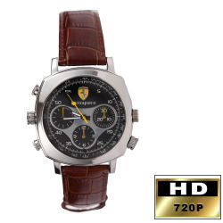 HD Spy Watch DVR 4GB Leather Band