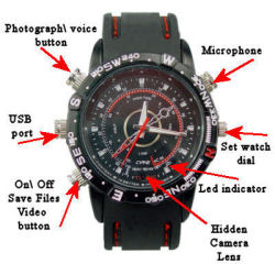 Spy Watch DVR 4GB Black