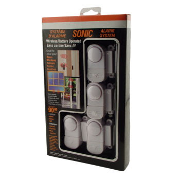 Mini Magnetic Contact Alarm and Chime (4 Pack)