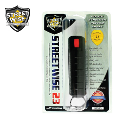 Police Strength 1/2 oz HardShell Black Pepper Spray Certified