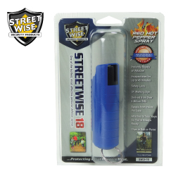 1/2 oz HARDSHELL Pepper Spray BLUE Lab Certified