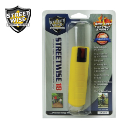 1/2 oz HARDSHELL Pepper Spray YELLOW Lab Certified