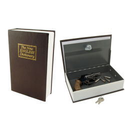 Locking Book Safe with Key Diversion Safe Hides in plain sight